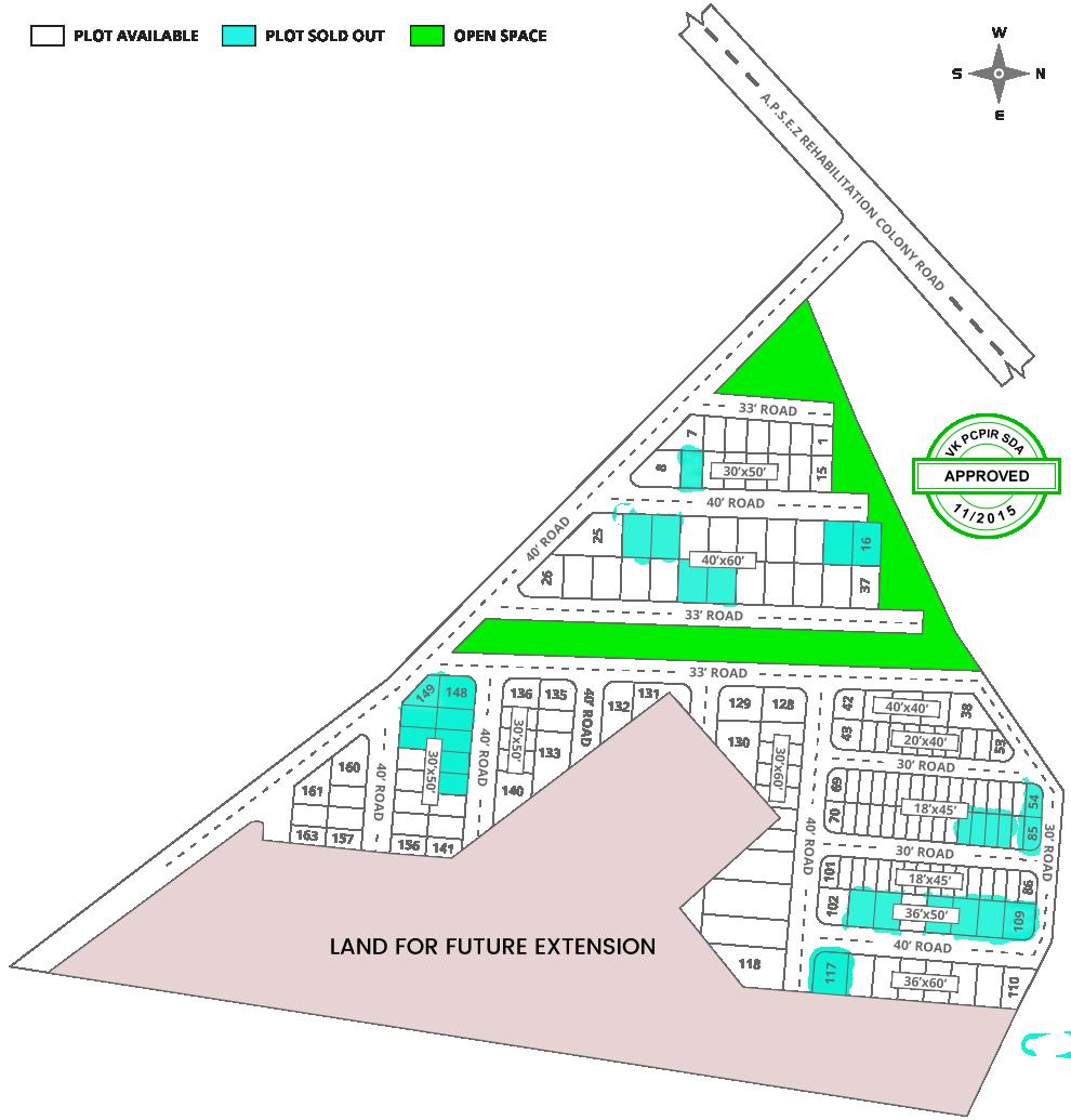 Real estate layout of leo county Atchutapuram